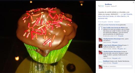 Mis Cupcakes en mi Camita