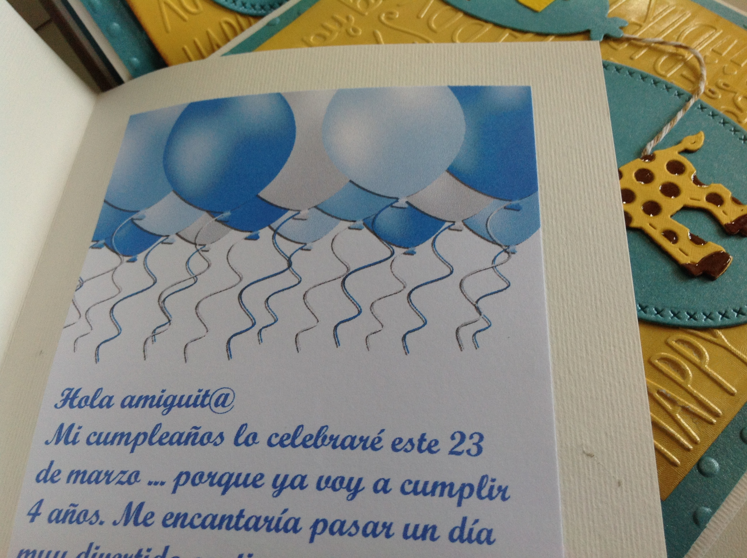 tajeta de cumpleaños niño27
