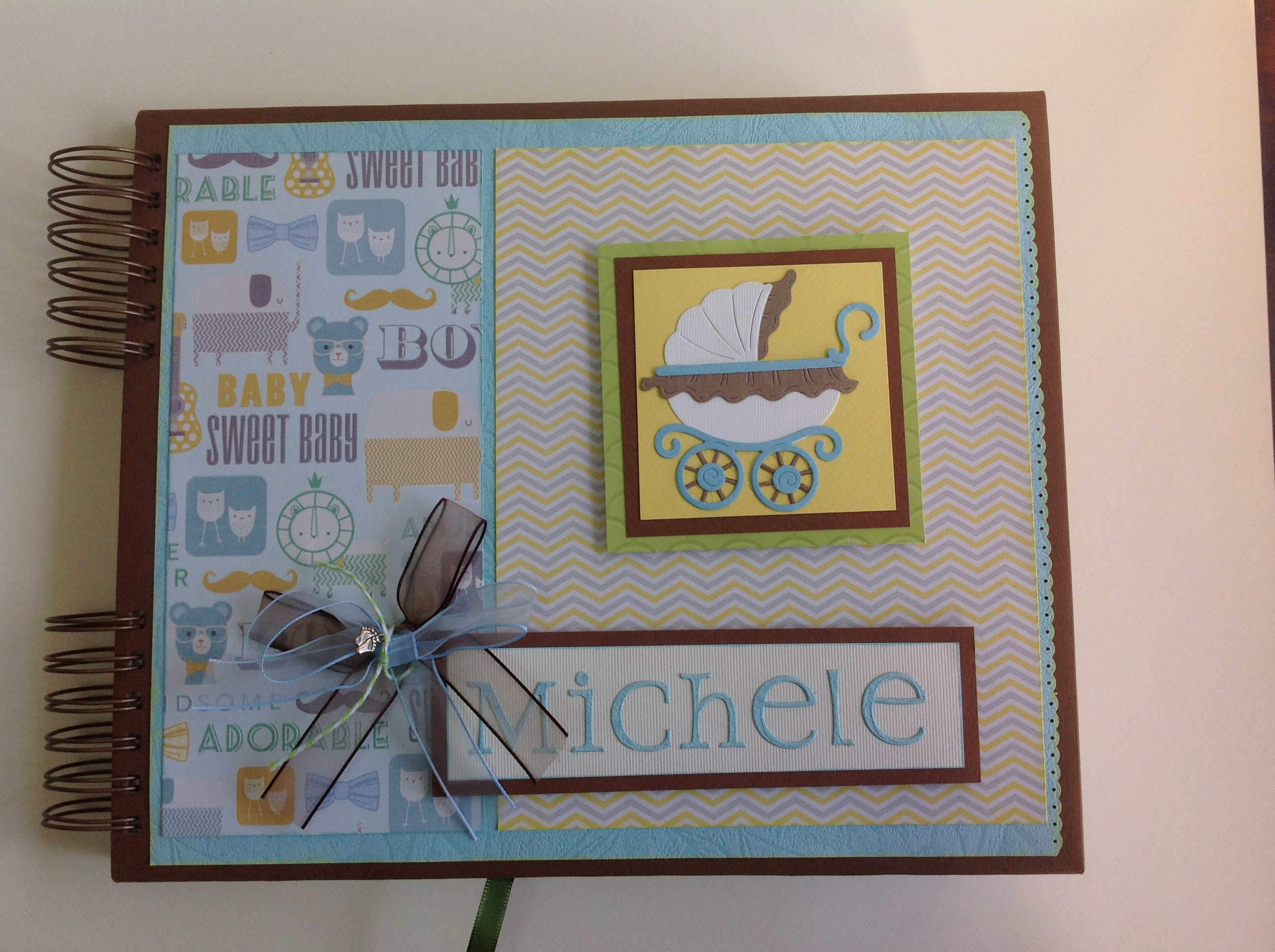 Album scrapbook para baby shower o bebe (1)