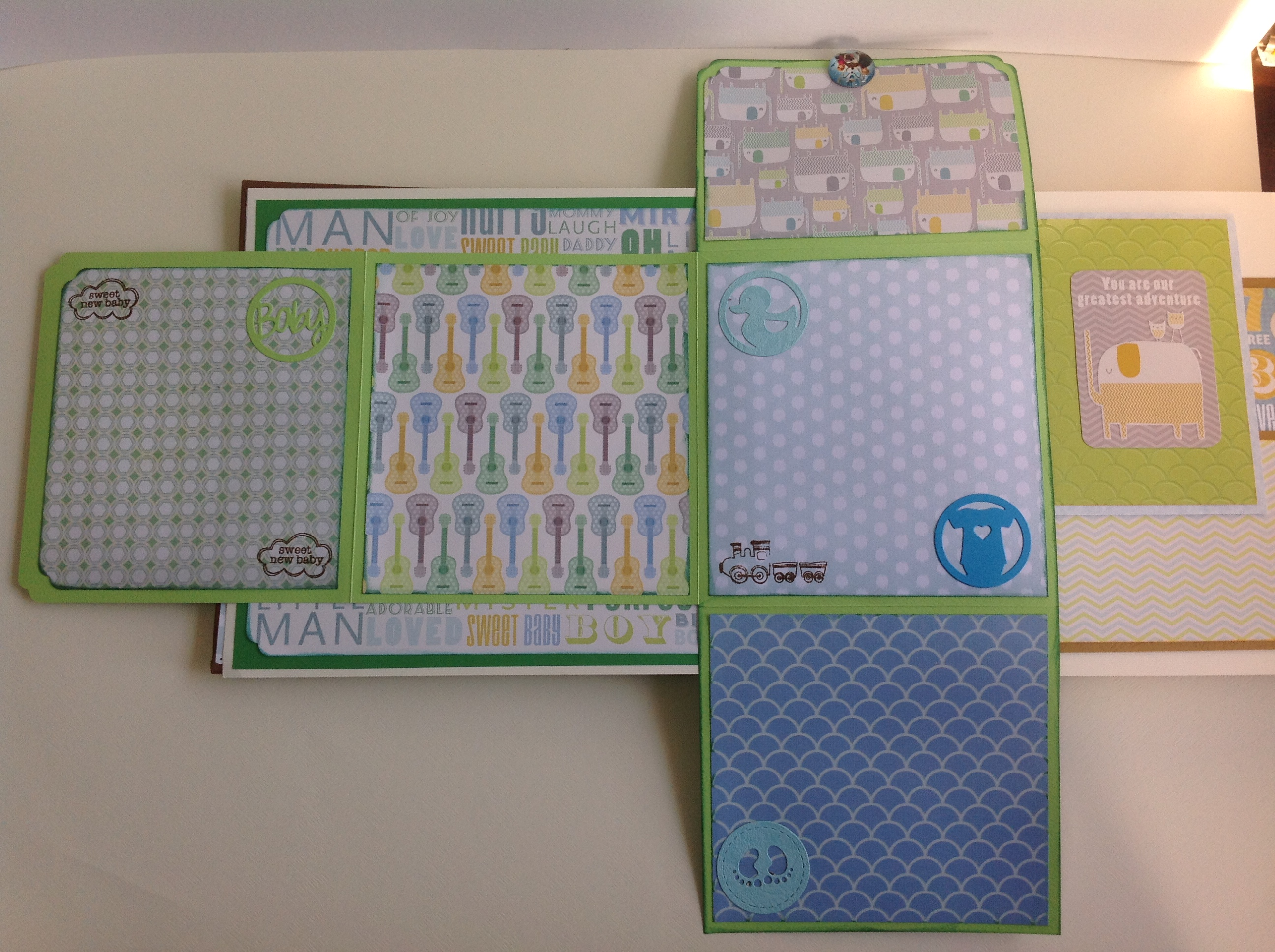 Album scrapbook para baby shower o bebe (10)