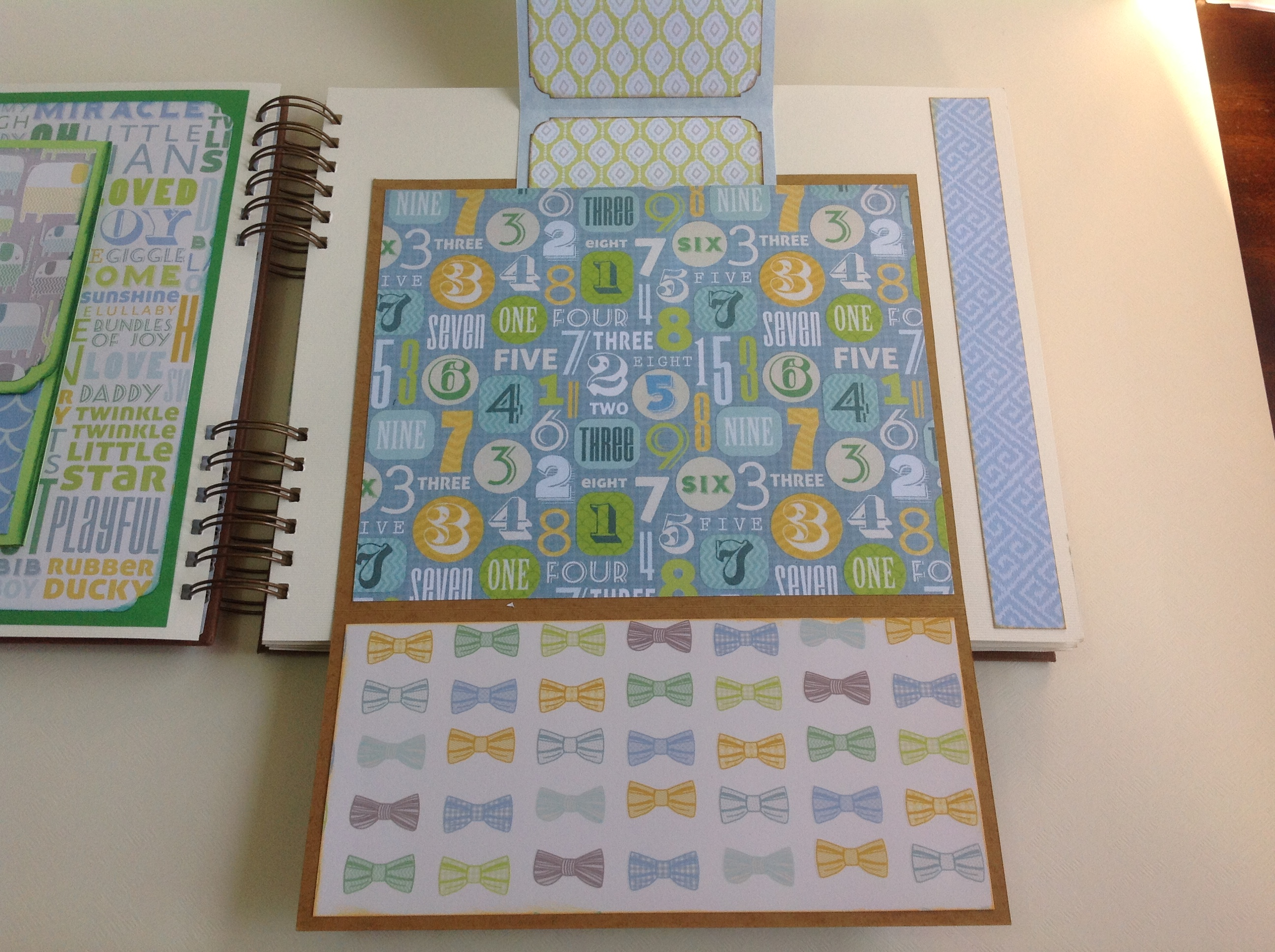 Album scrapbook para baby shower o bebe (12)