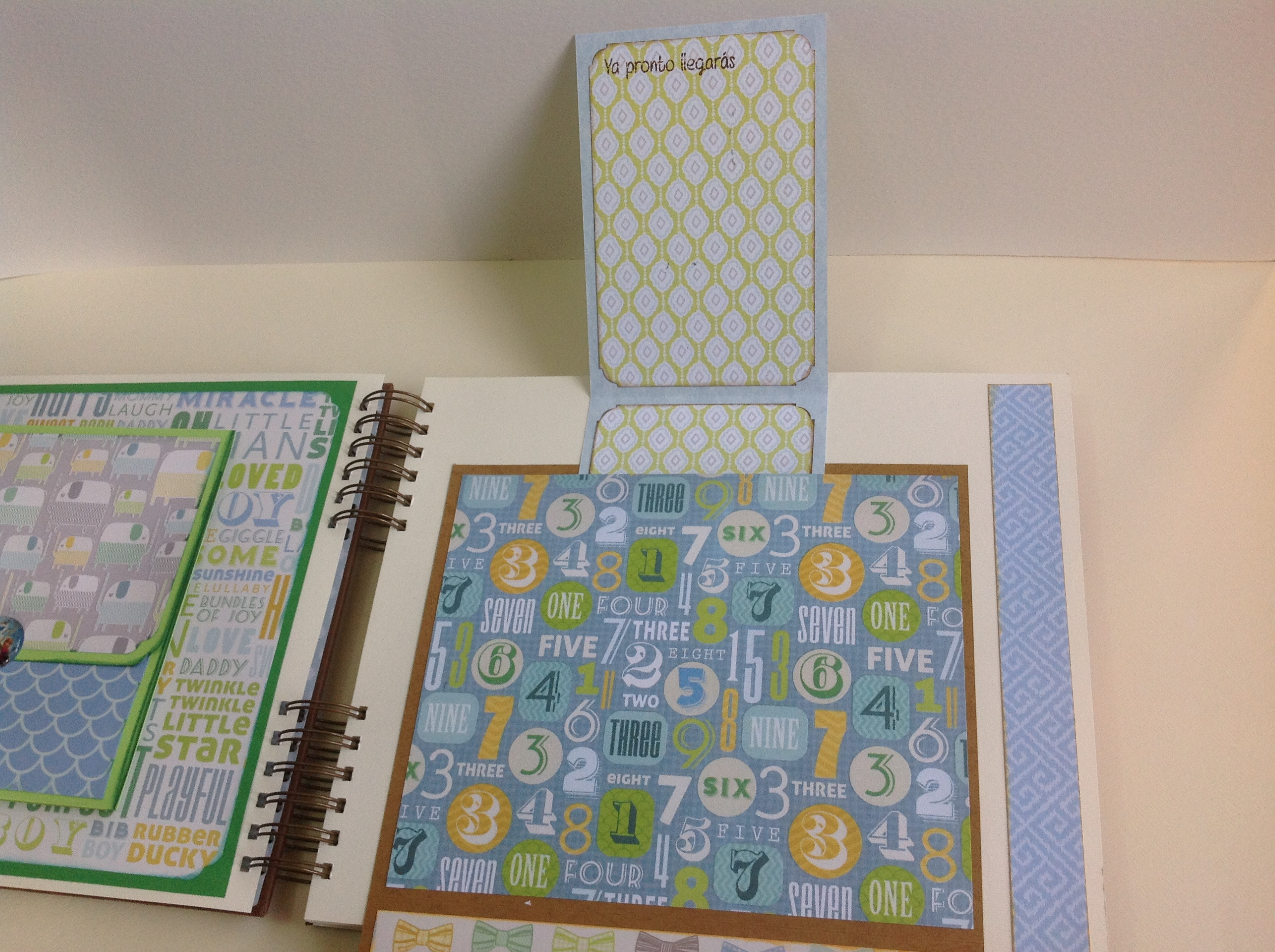 Album scrapbook para baby shower o bebe (13)