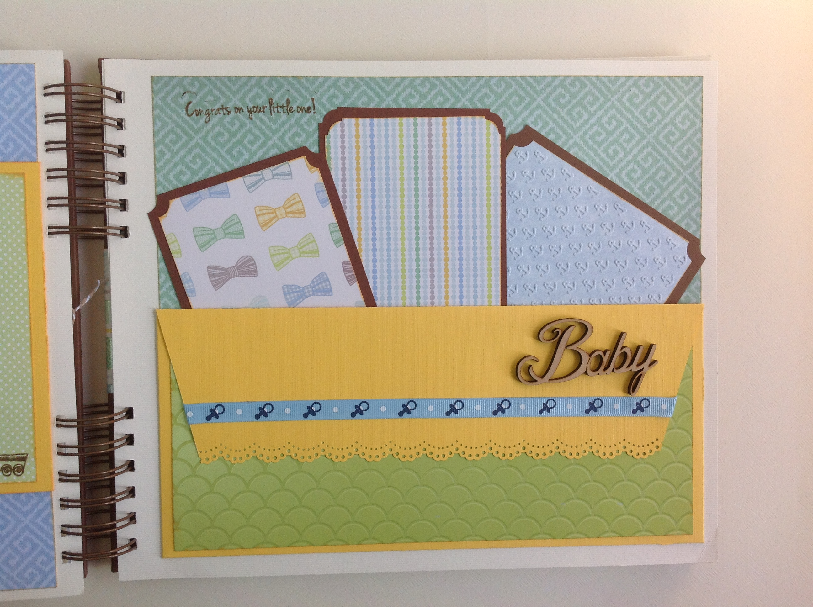 Album scrapbook para baby shower o bebe (19)