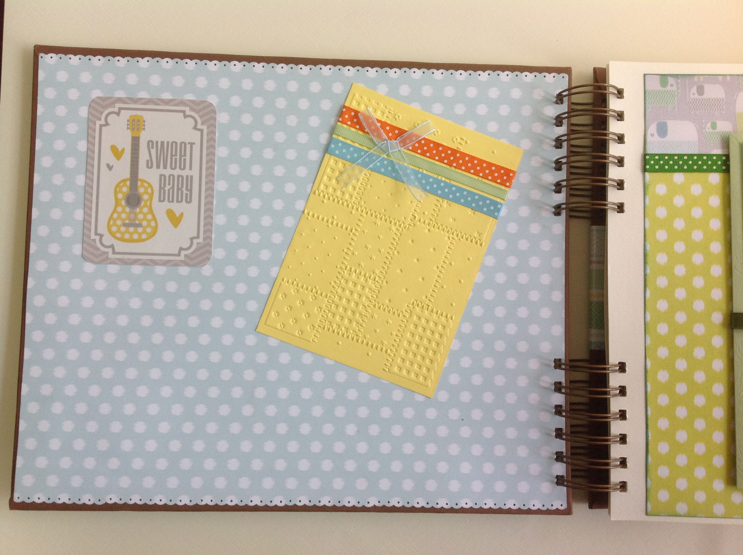 Album scrapbook para baby shower o bebe (2)