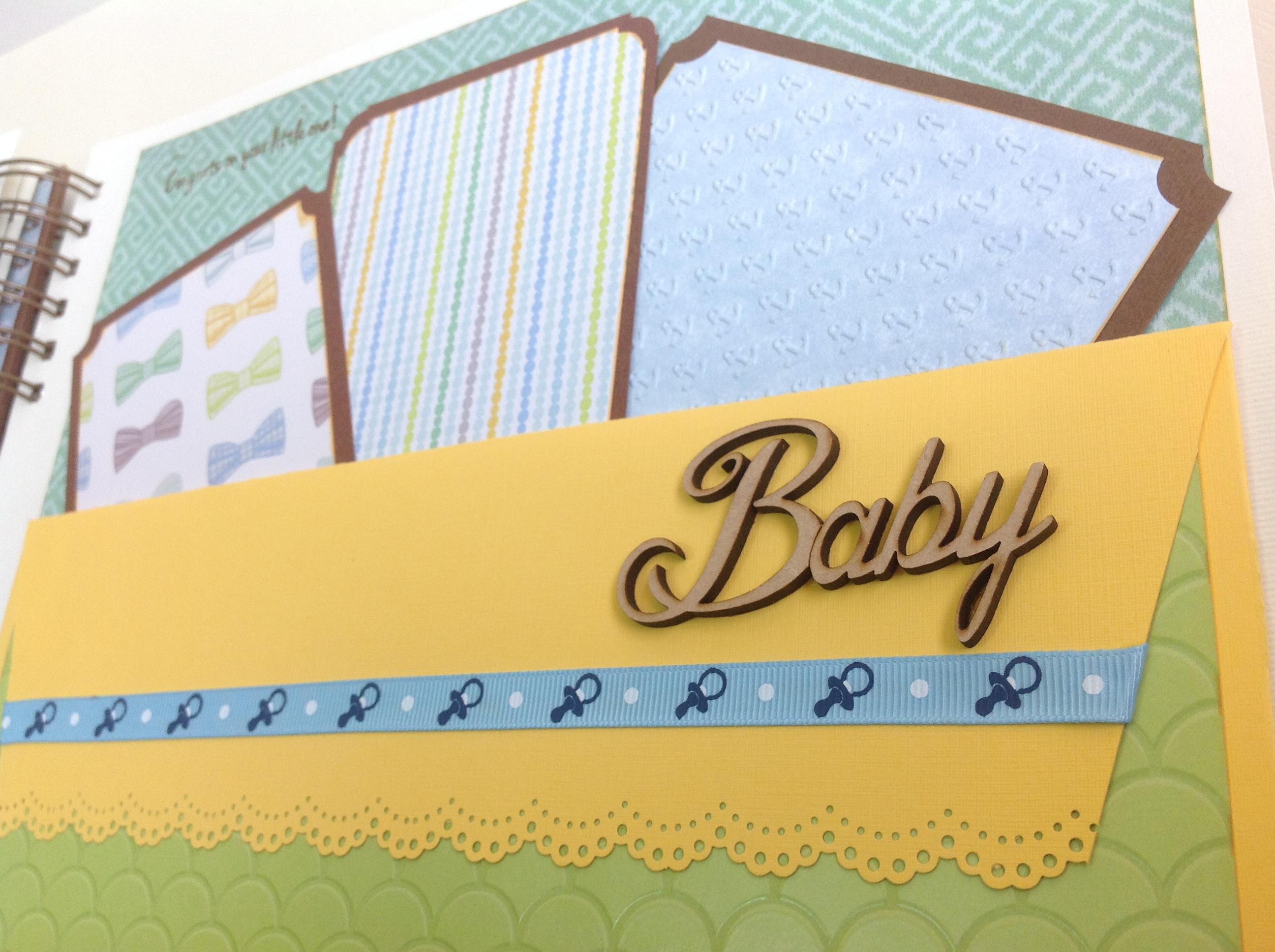 Album scrapbook para baby shower o bebe (20)