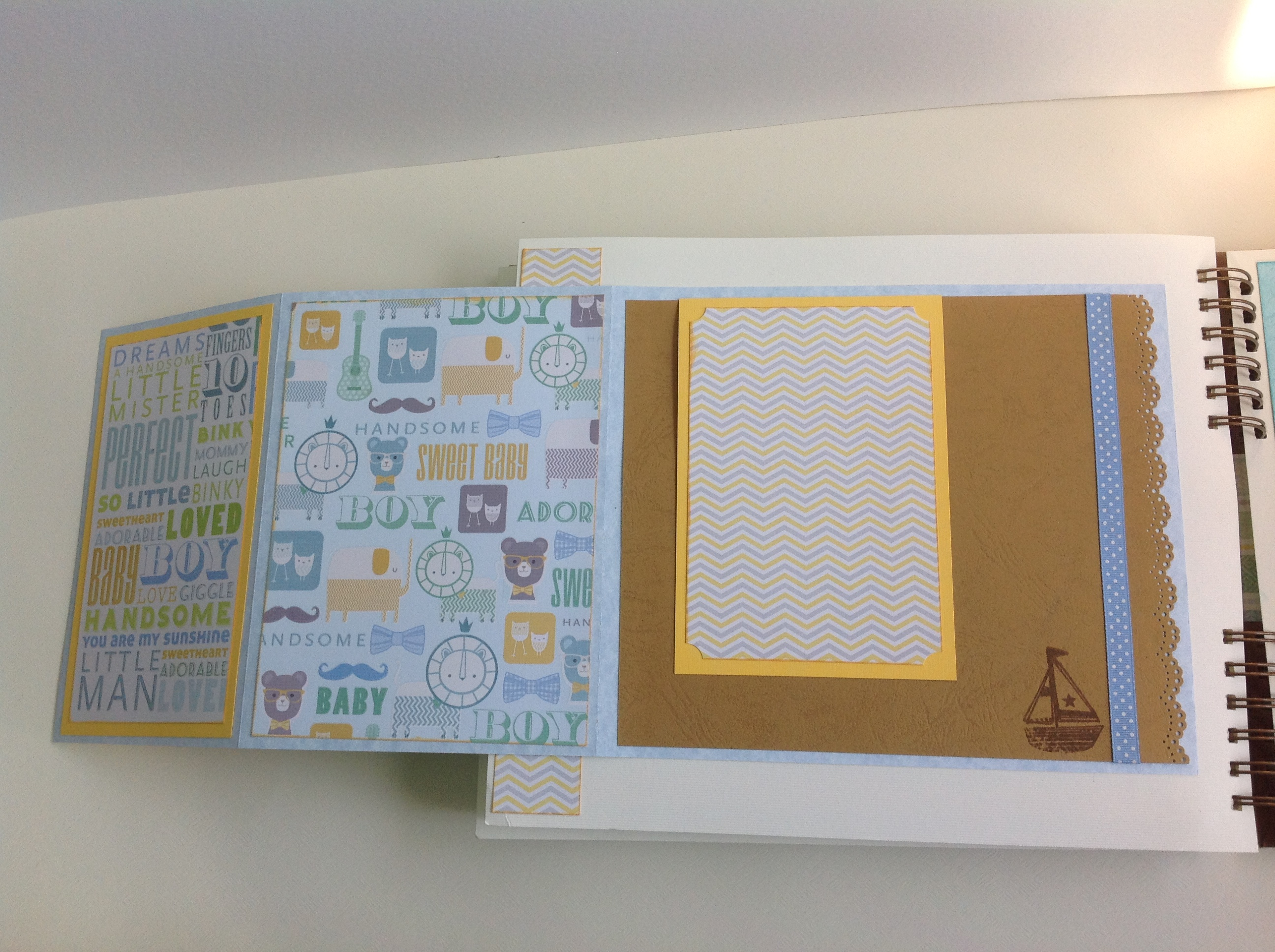 Album scrapbook para baby shower o bebe (24)