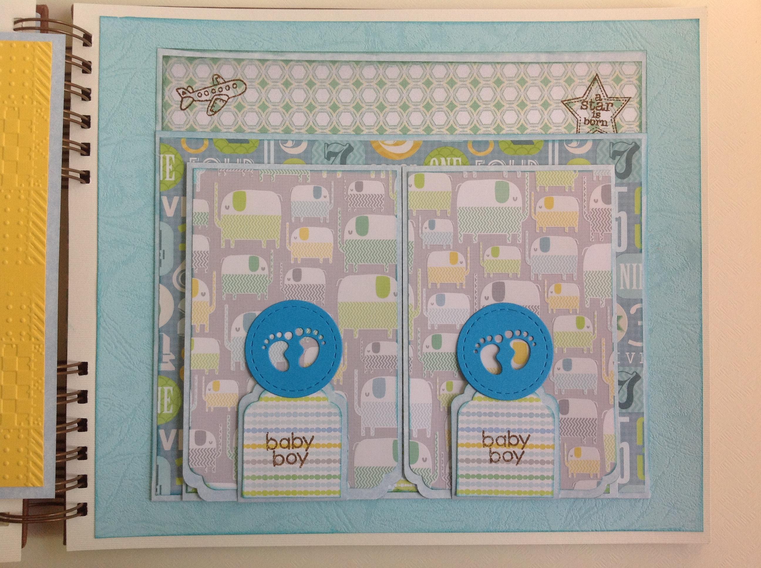Album scrapbook para baby shower o bebe (27)