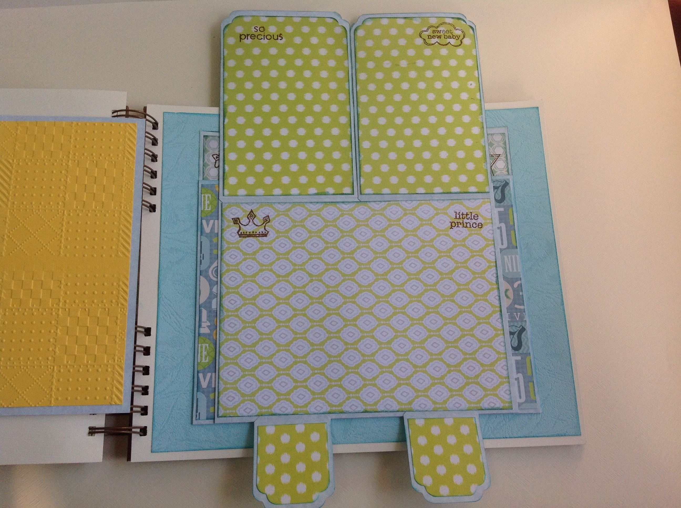 Album scrapbook para baby shower o bebe (28)