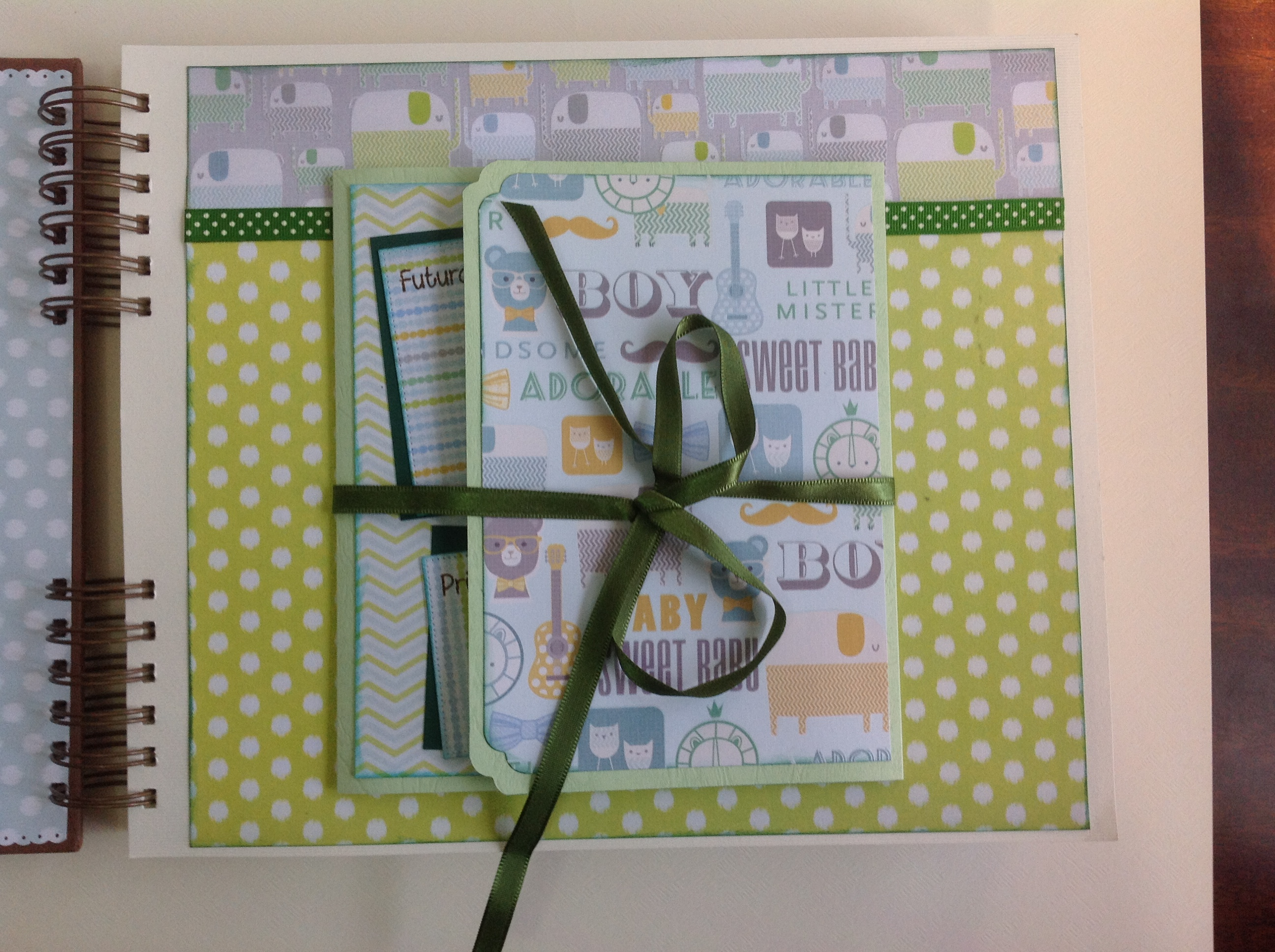 Album scrapbook para baby shower o bebe (3)