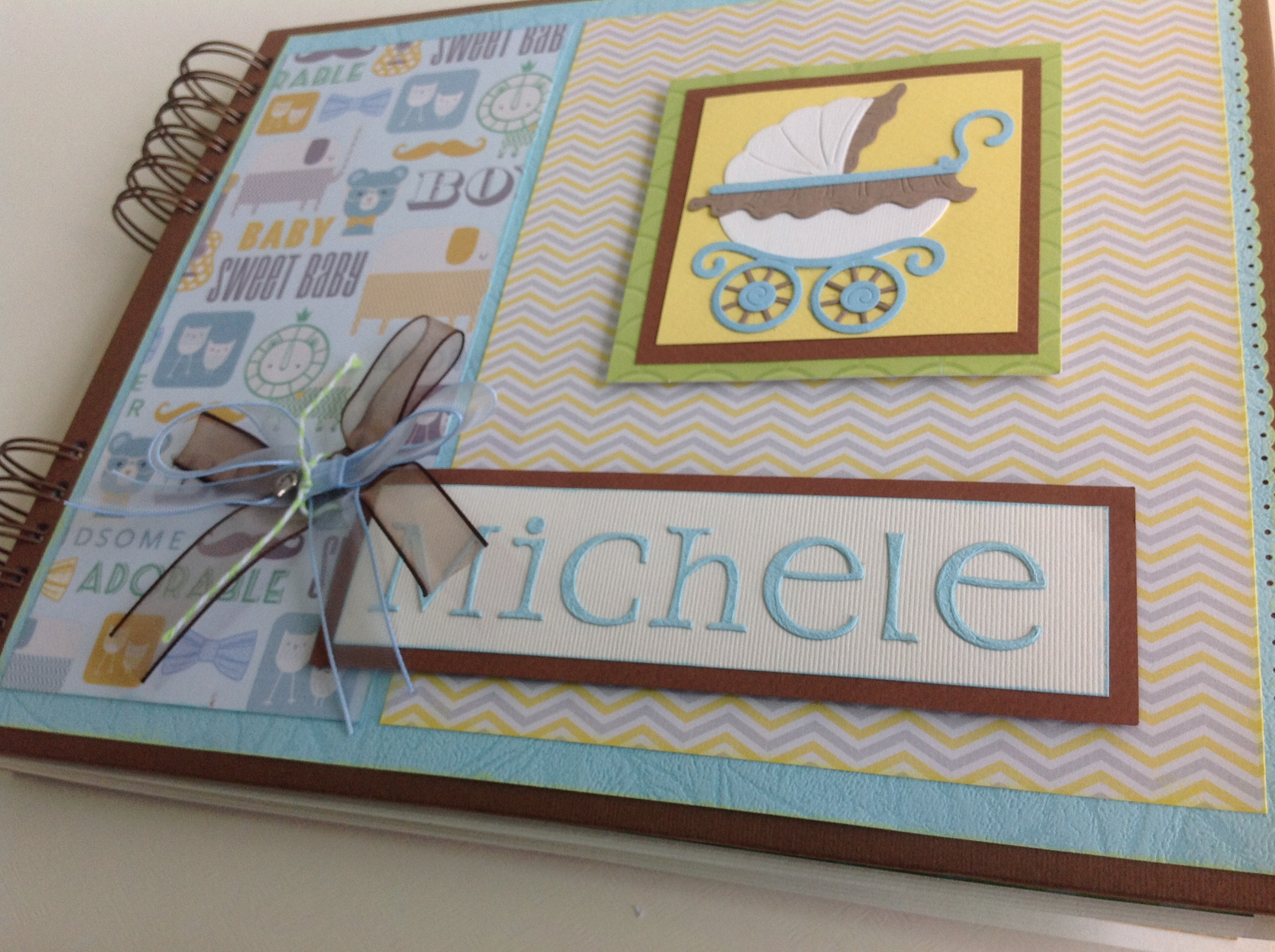 Album scrapbook para baby shower o bebe (34)