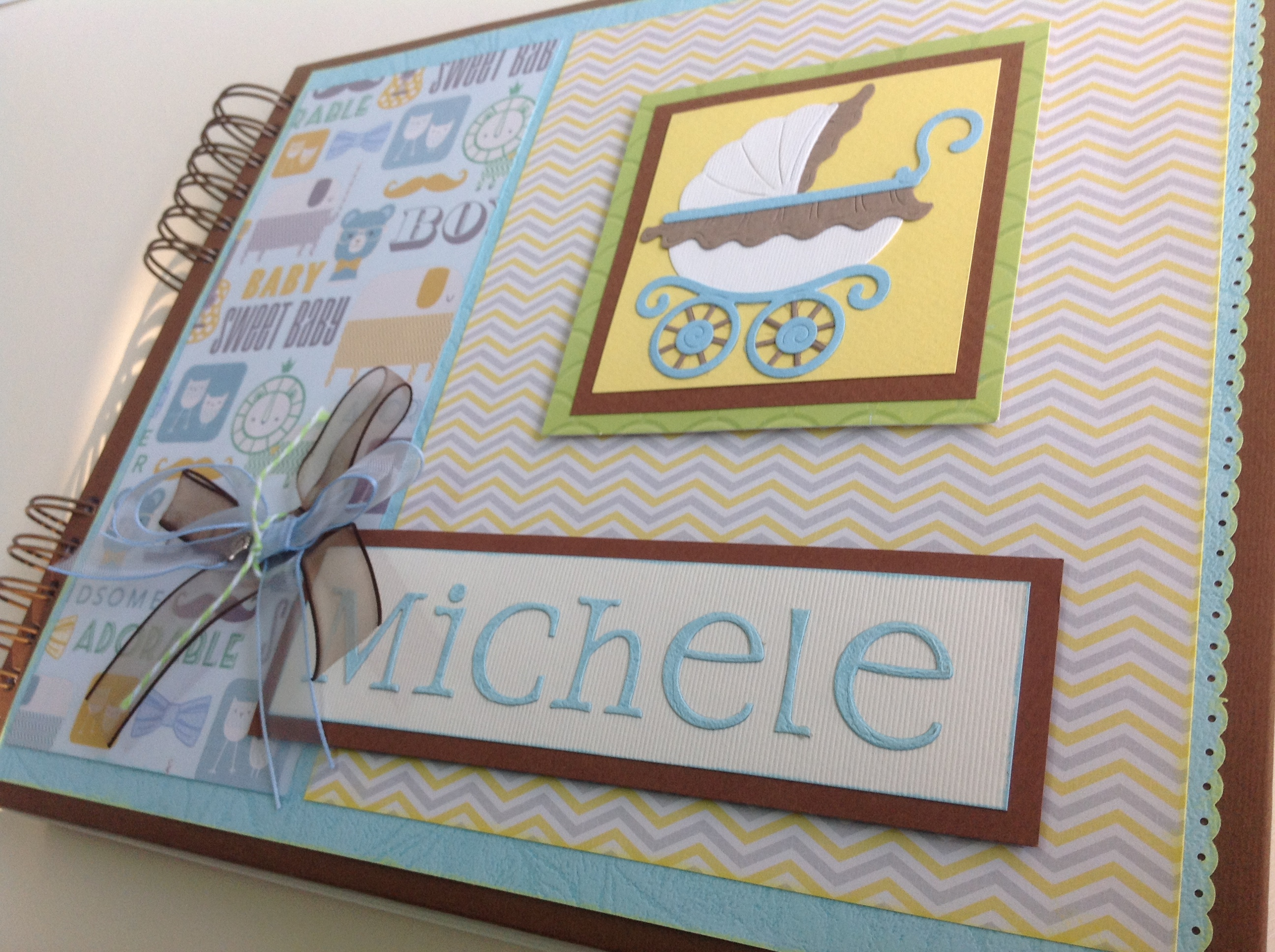 Album scrapbook para baby shower o bebe (36)