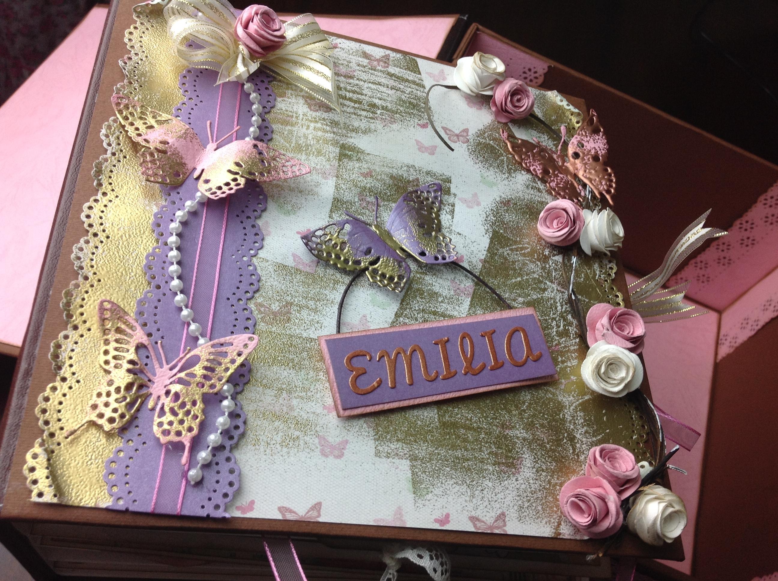 Portada de album scrapbook para cumpleaños de niña (1)