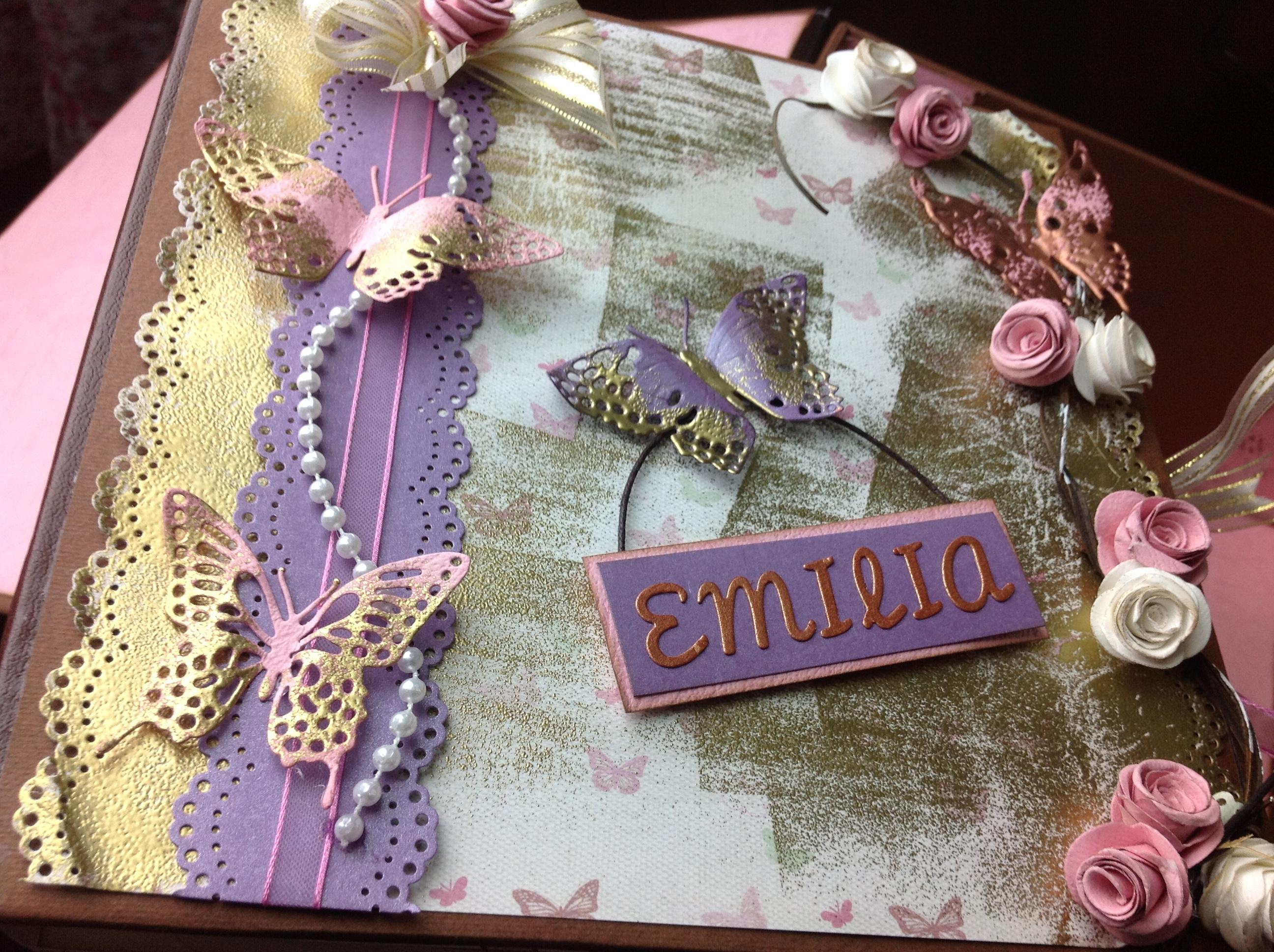 Portada de album scrapbook para cumpleaños de niña (2)