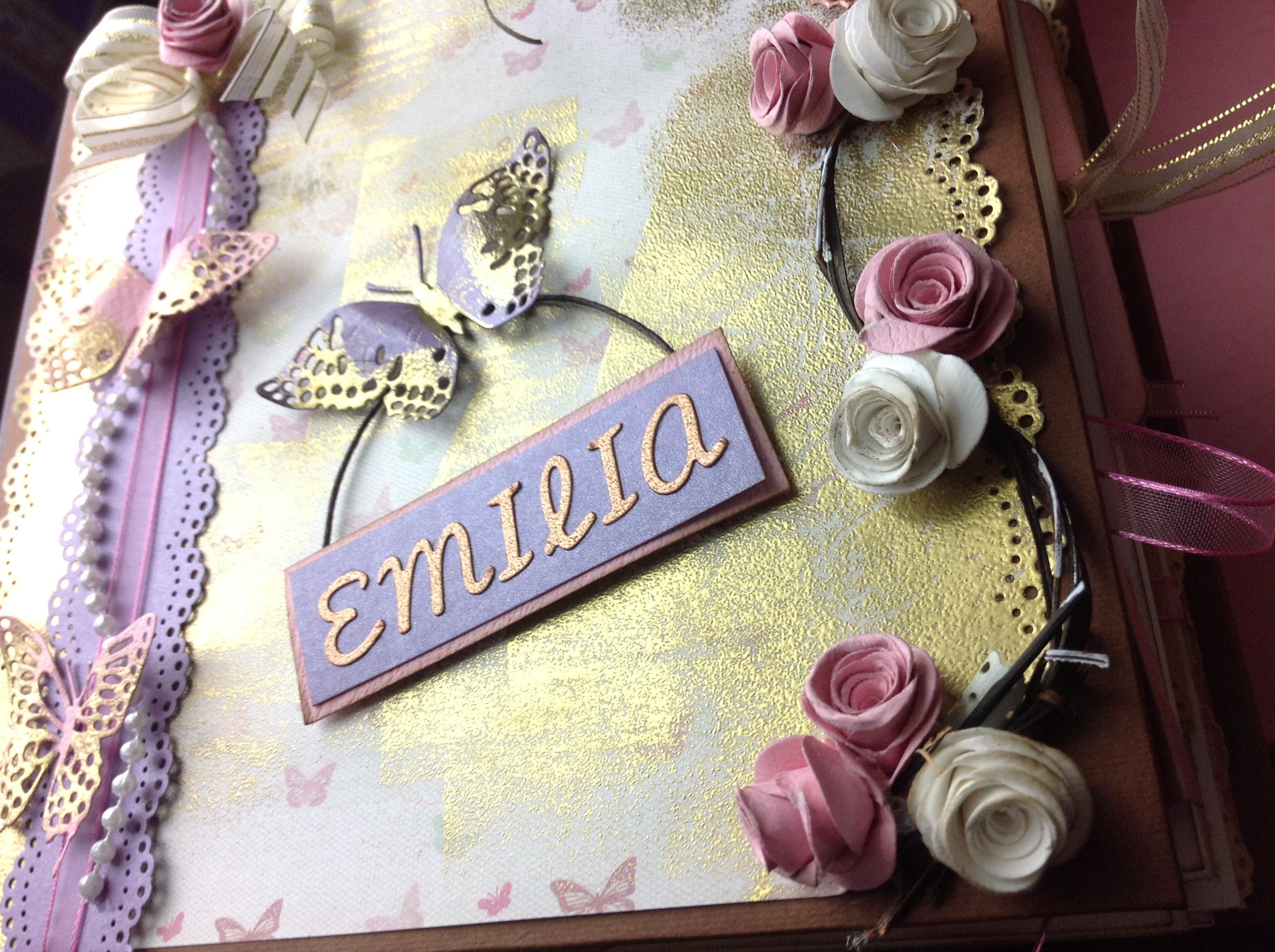 Portada de album scrapbook para cumpleaños de niña (3)
