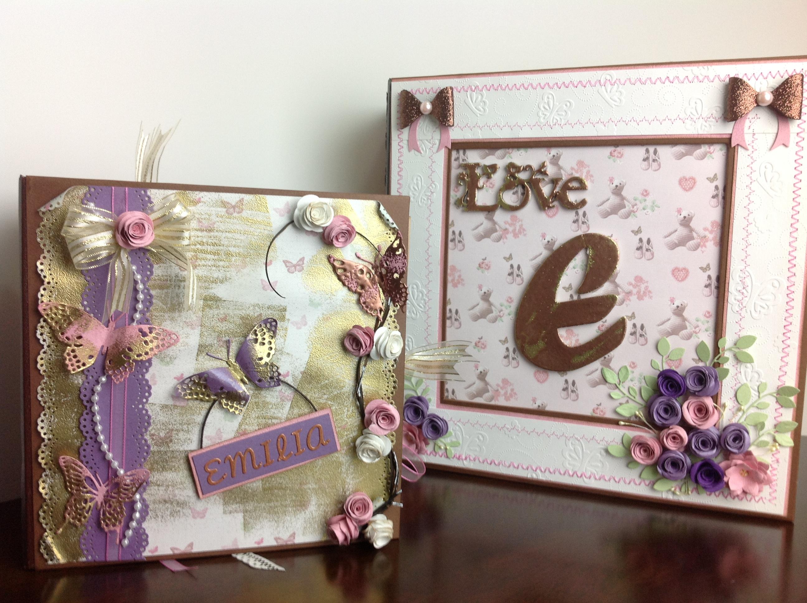 Portada de album scrapbook para cumpleaños de niña (4)