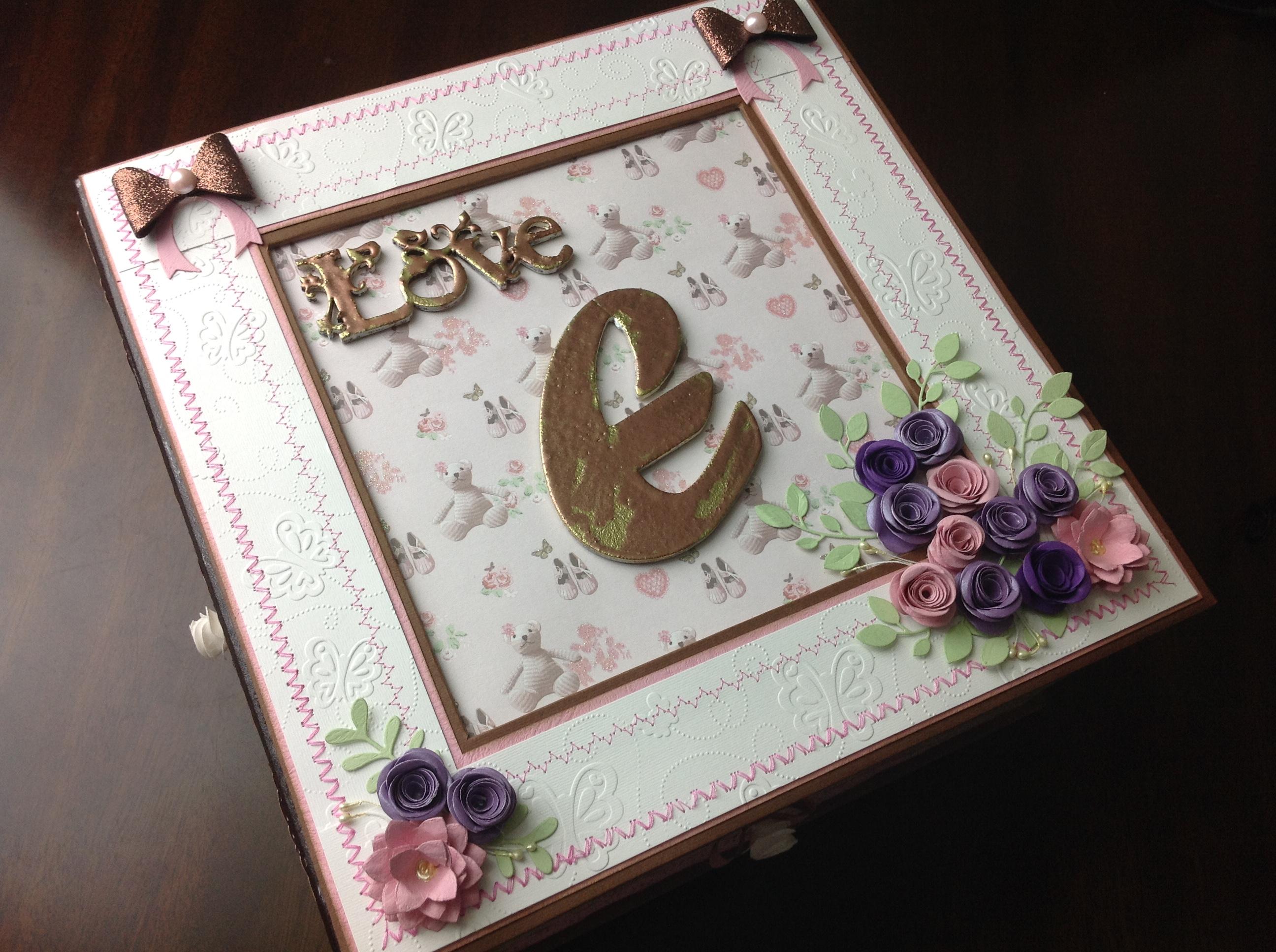 caja para album scrapbook para cumpleaños de niña (1)