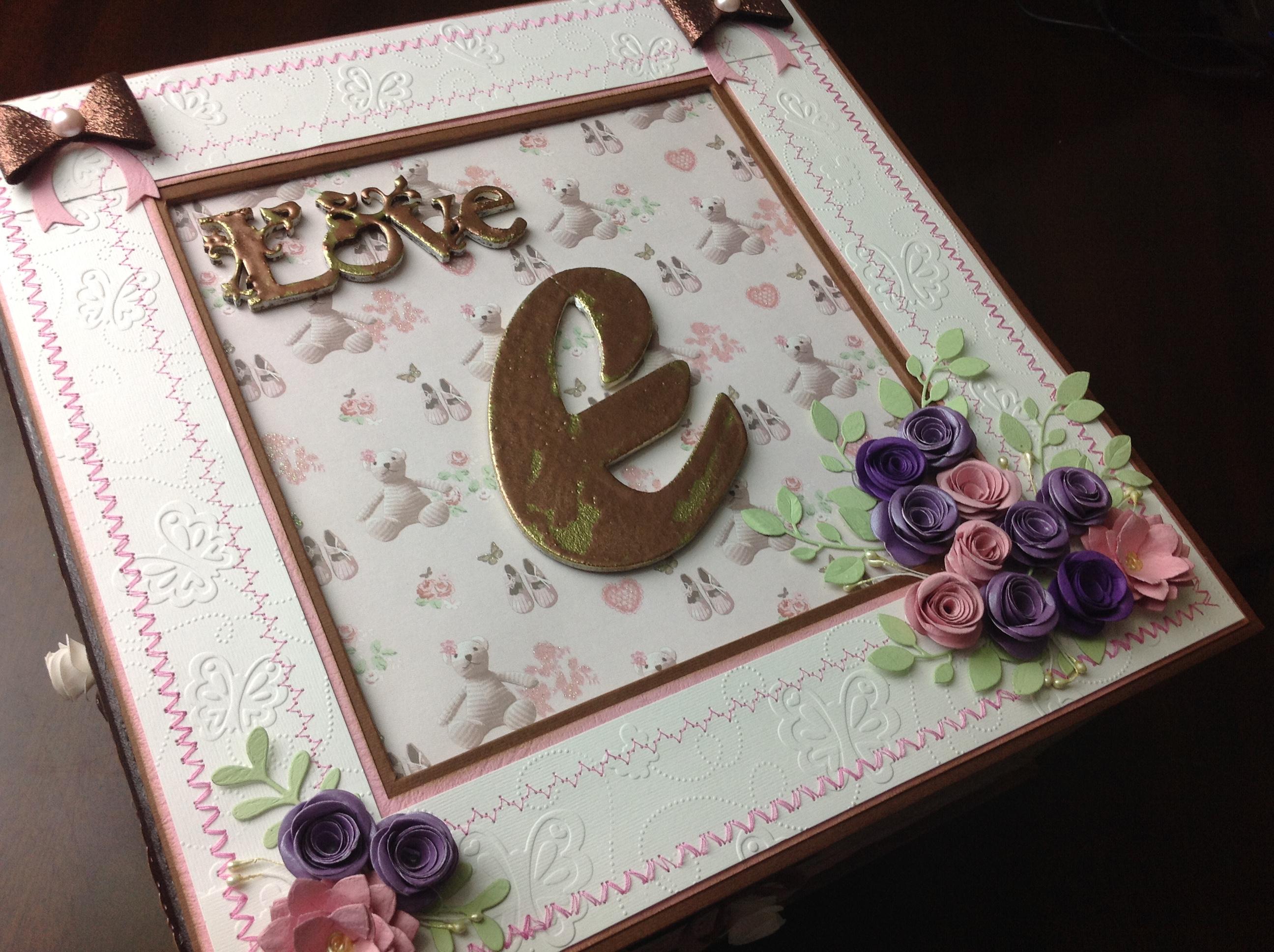 caja para album scrapbook para cumpleaños de niña (2)
