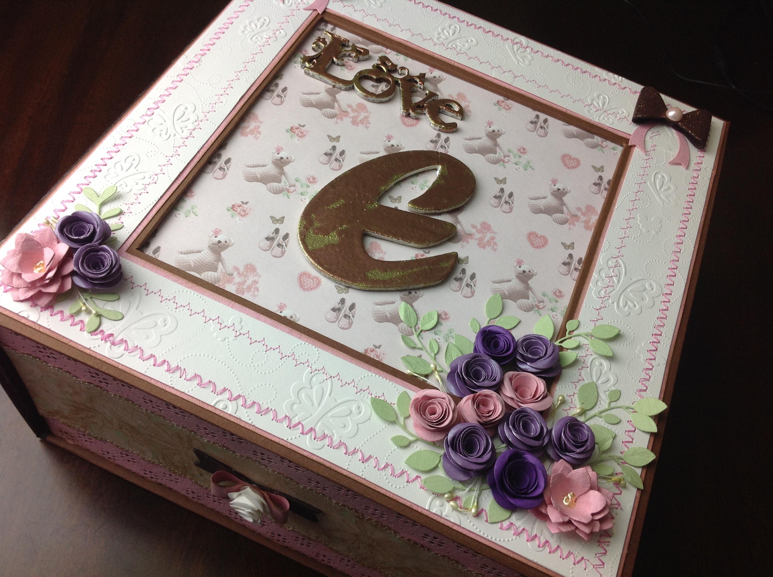 caja para album scrapbook para cumpleaños de niña (3)