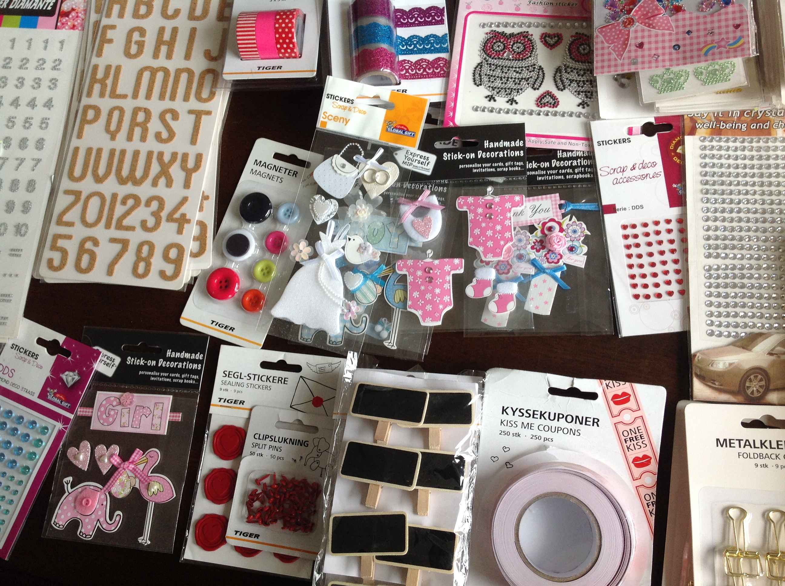 Compras de materiales para scrapbook 2