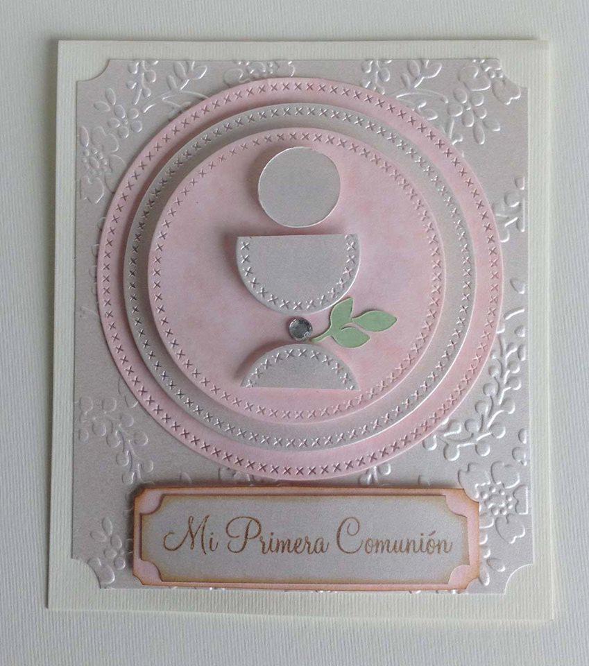 Mis tarjetas para primera comuni n claudia rafaella - Como hacer tarjetas para comunion ...
