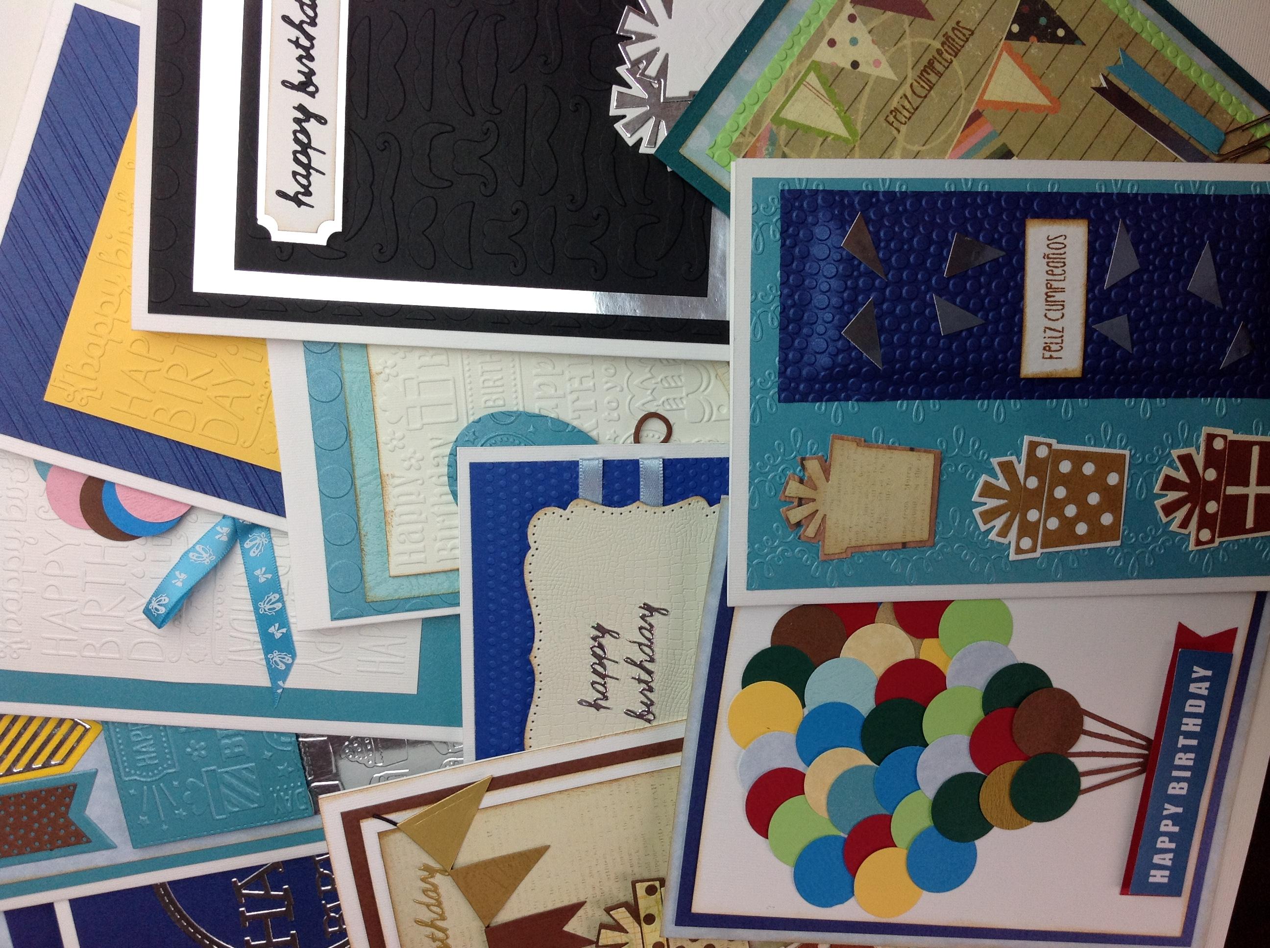 Mis tarjetas Scrapbook para cumpleaños de hombre