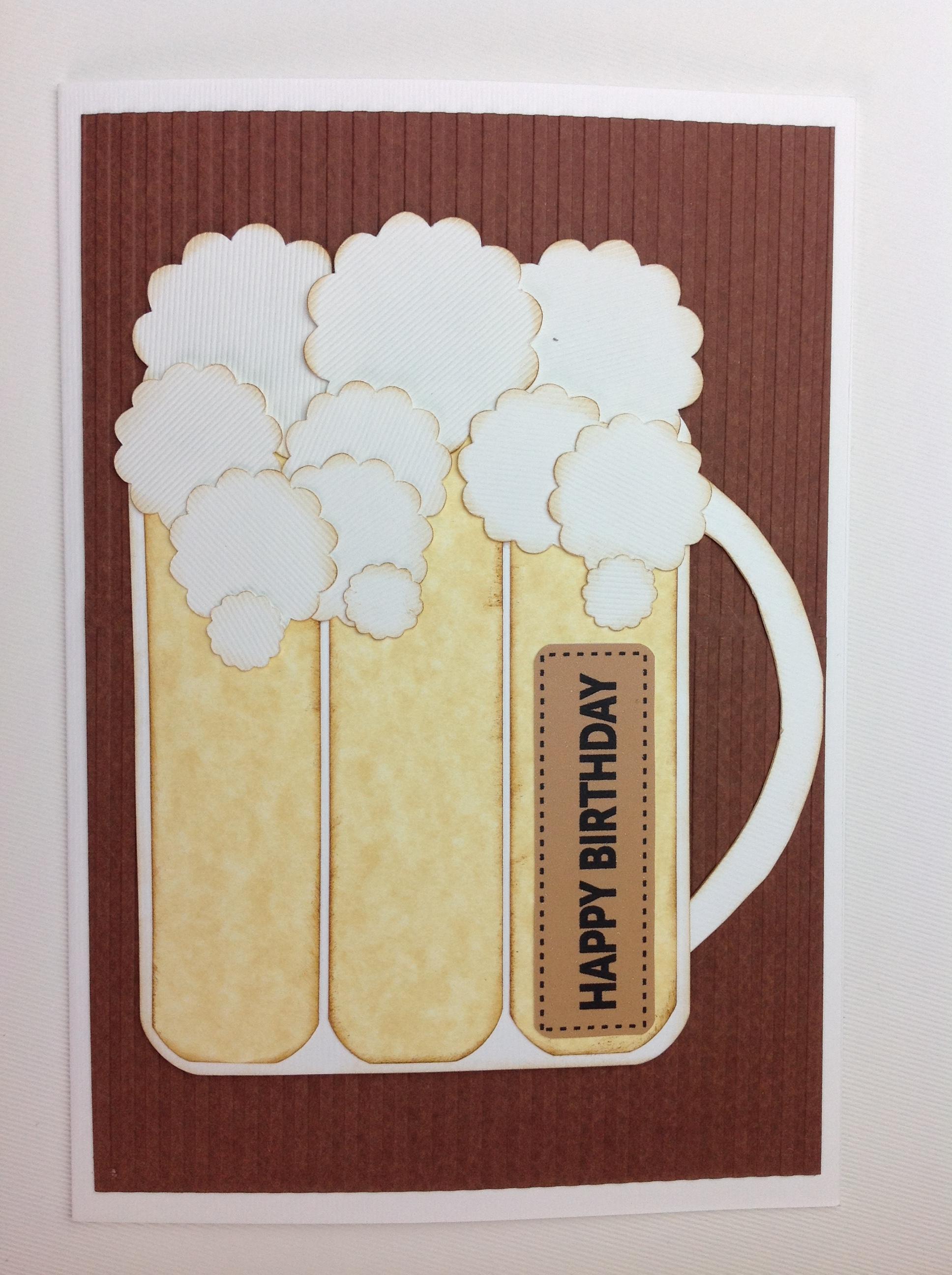 Mis tarjetas scrapbook para cumplea os de hombre claudia for Hacer tarjeta cumpleanos