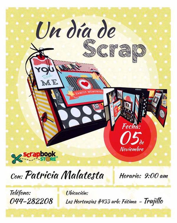 Un Día de Scrap con Patricia Malatesta este sábado 5 de noviembre