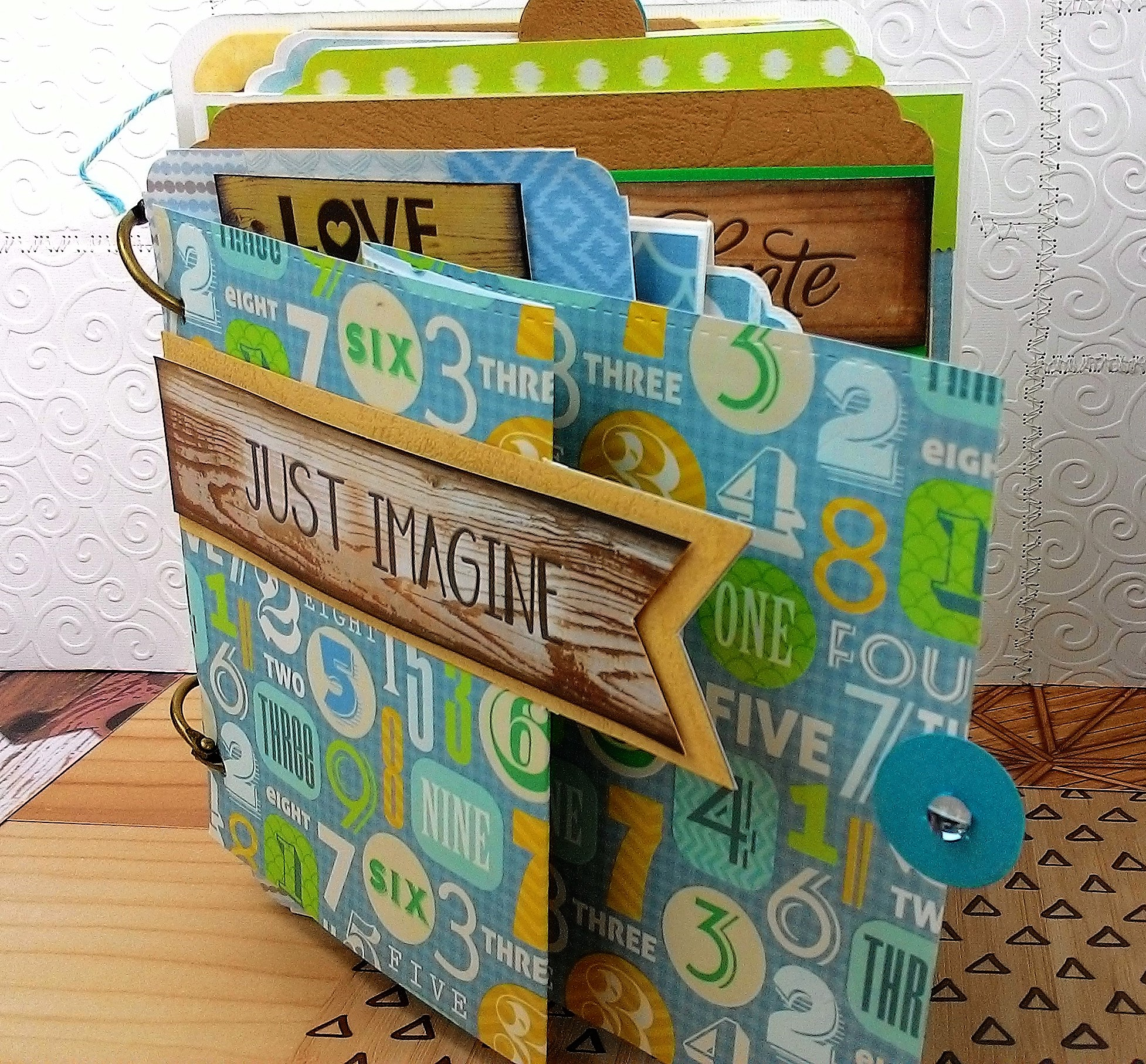 Tutorial Album Scrap desestructurado con argollas