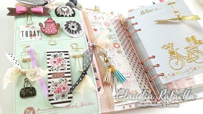 Mi nueva agenda 2018 demostraci n decoraci n en scrapbooking claudia rafaella scrapbook cards - Como decorar una agenda ...