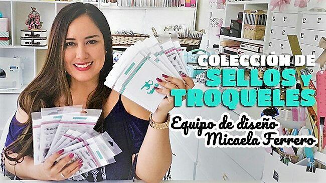 Equipo de diseño Micaela Ferrero, su colección de sellos y troqueles