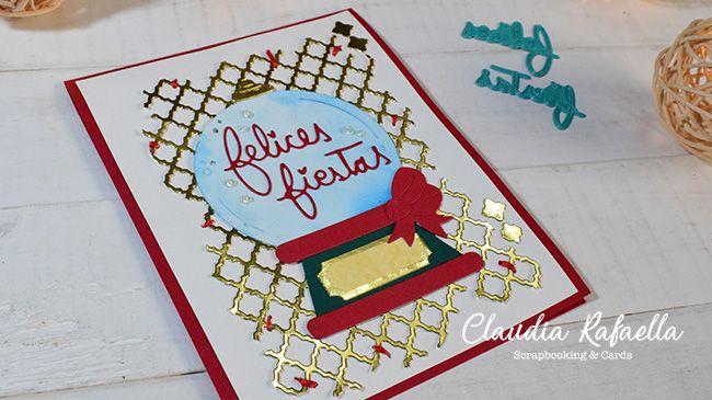 Tarjeta Navideña con Troqueles | Dispensador de dulces
