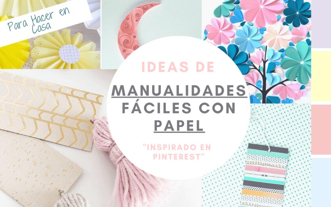 IDEAS de Manualidades Fáciles con PAPEL para Hacer en Casa| Inspirado en Pinterest