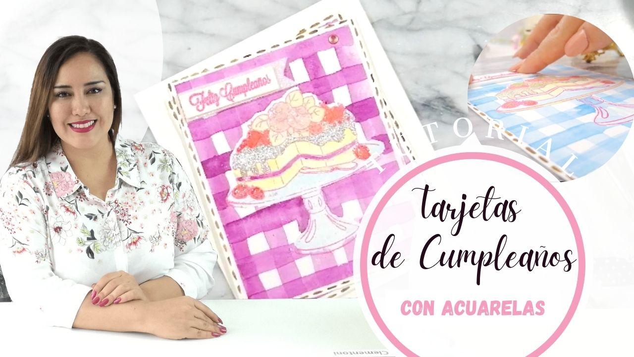 Tarjetas de Cumpleaños con Acuarelas | Hecho a mano